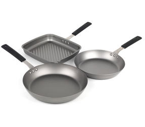 Salter Pan for Life 24/28cm Frying Pans and 26cm Griddle Pan Set Thumbnail 1