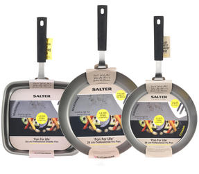 Salter Pan for Life 24/28cm Frying Pans and 26cm Griddle Pan Set Thumbnail 4