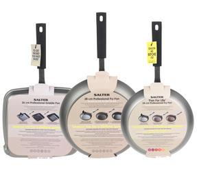Salter Pan for Life 24/28cm Frying Pans and 26cm Griddle Pan Set Thumbnail 5