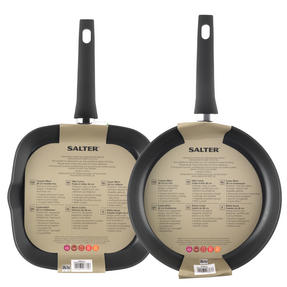 Salter Copper Effect Frying Pan and Griddle Pan Set, 28/28cm Thumbnail 4
