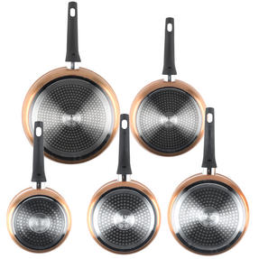 Salter Copper Effect 3 Piece Saucepan Set with 24/28cm Frying Pans Thumbnail 4