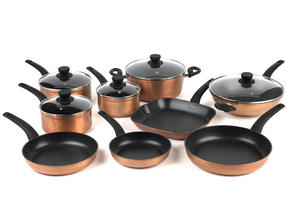 Salter Copper Effect 9 Piece Kitchen Pan Set Thumbnail 1