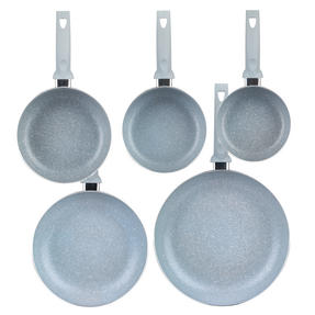 Russell Hobbs Stone Collection 3 Piece Saucepan Set with 24/28cm Frying Pans, Daybreak Thumbnail 4