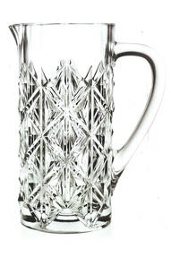 RCR 25937020006 Enigma Luxion Crystal Glass Jug Carafe 1.2 Litres Water Jug Pitcher Thumbnail 1