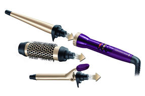 Remington CI97M1 Your Style Bar Starter Kit Hot Brush, 19 mm Tong and Conical Wand