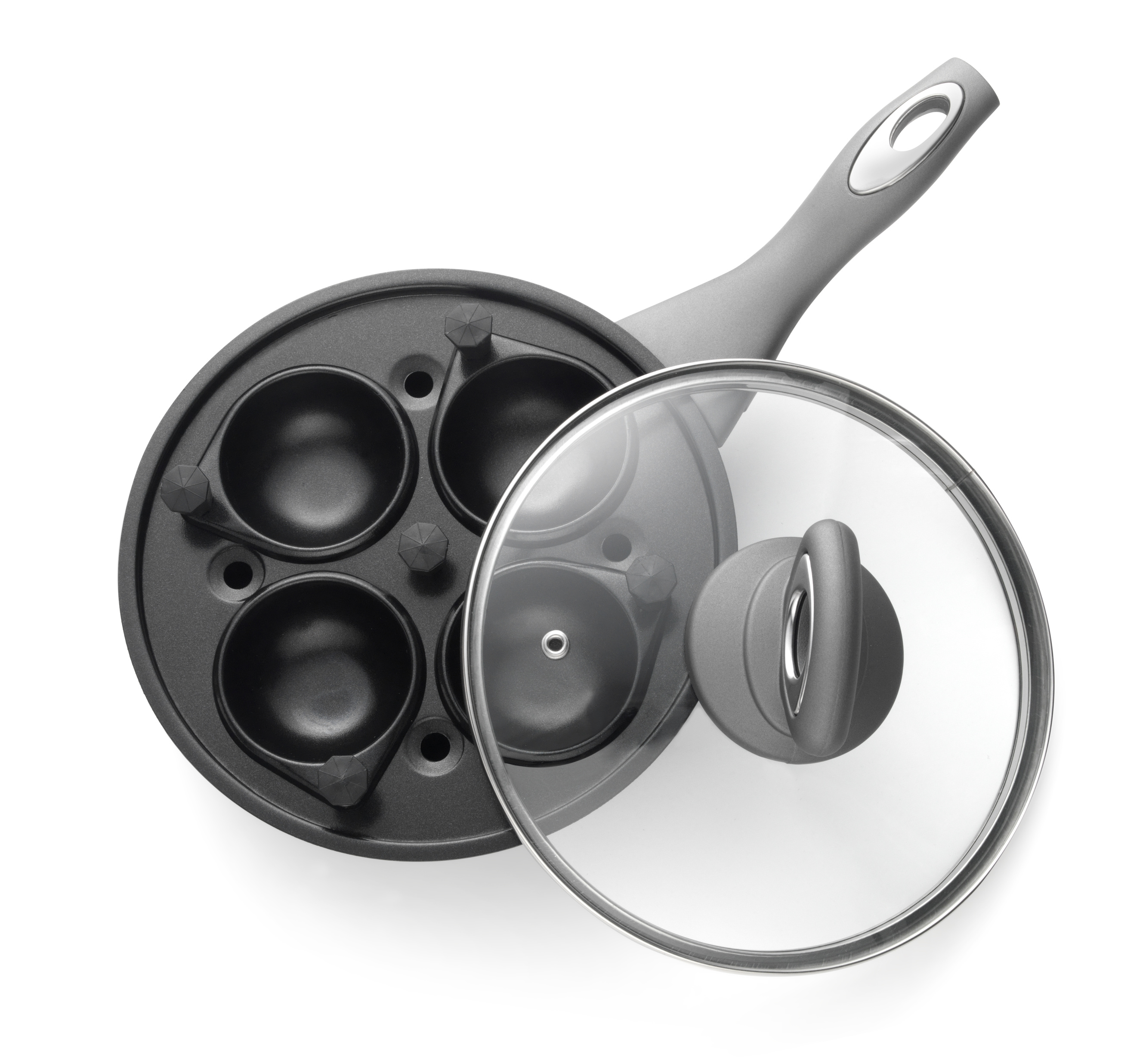 Salter Marble Collection 4 Cup Egg Poaching Pan Grey Cookware