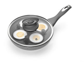 Salter Marble Collection 4 Cup Egg Poaching Pan, Grey Thumbnail 2