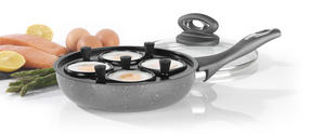 Salter BW05391 Marble Collection 4 Cup Egg Poaching Pan, Grey Thumbnail 6