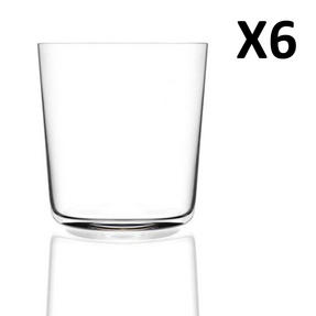 RCR Armonia Set Of 6 Short Tumblers Luxion Glass 35cl