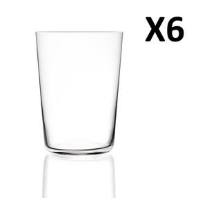 RCR Armonia Set Of 6 High Tumblers Luxion Glass 55cl 252340