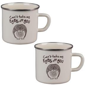 Cambridge BW0397508 Enamel Owl Eyes Mug Set of 2 Thumbnail 1