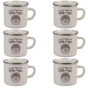 Cambridge BW0397508 Enamel Owl Eyes Mug Set of 6 Thumbnail 1