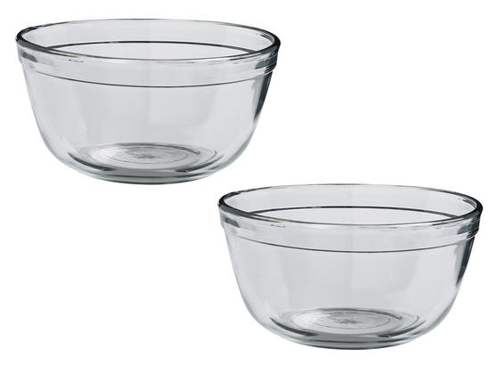 Anchor Hocking 81574L11 Tempered Glass Mixing Bowl, 1.5 Litre, Set of 2