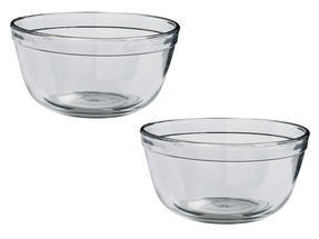 Anchor Hocking 81574L11 Tempered Glass Mixing Bowl, 1.5 Litre, Set of 2 Thumbnail 1