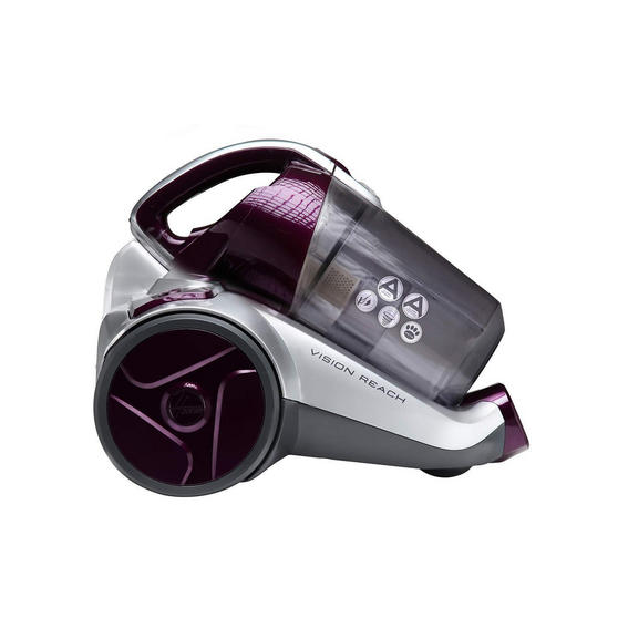 Hoover BF70_VS01002 Vision Reach Bagless Pets Cylinder Vacuum Cleaner, 700 W, Silver/Purple