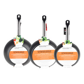 Russell Hobbs Infinity 24/28cm Frying Pans with 28cm Wok, Black Thumbnail 5