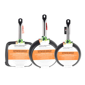 Russell Hobbs Infinity 24/28cm Frying Pans with 26cm Griddle Pan, Black Thumbnail 5