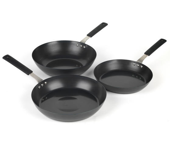 Salter Pan For Life 24/28cm Frying Pans with 28cm Wok, Black