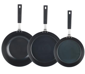 Salter Pan For Life 24/28cm Frying Pans with 28cm Wok, Black Thumbnail 2