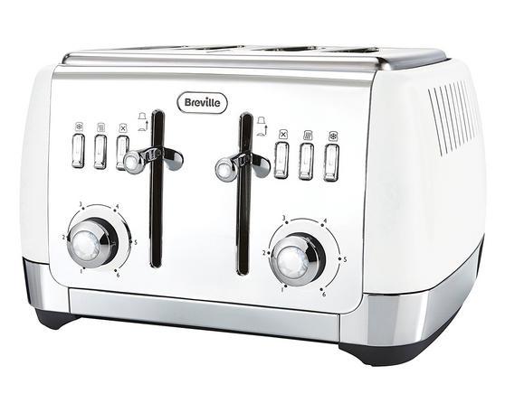 Breville VTT762 Strata 4 Slice Toaster, White