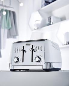 Breville VTT762 Strata 4 Slice Toaster, White Thumbnail 3