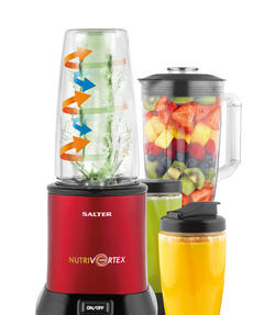 Salter EK2244 Nutri Vortex Super Charged Multi-Purpose Nutrient Extractor Blender, 1.5 Litre, 1200 W, Red Thumbnail 5