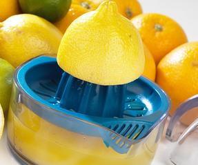 Salter Adjustable Citrus Juicer with Pulp Control, Blue Thumbnail 3