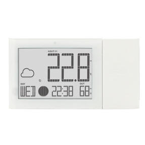 Oregon Scientific BAR268HG Alizé Weather Station, Advanced Version, with Indoor & Outdoor Temperature and Humidity, White