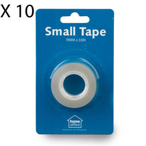 Home Office 148454 Small Tape, 19 mm, Pack of 10