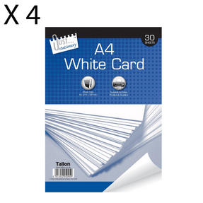 Just Stationery 5095 A4 30 Sheet White Card, Pack of 4