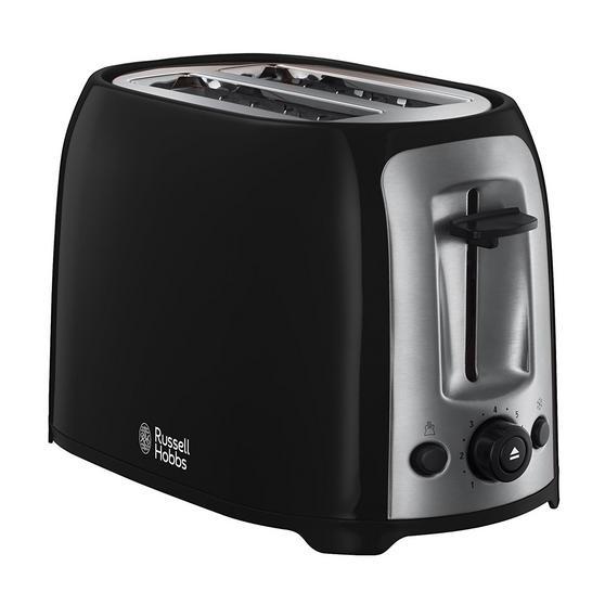 Russell Hobbs 23862 Darwin 2-Slice Toaster, Black/Silver