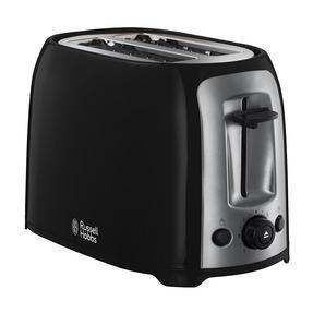Russell Hobbs 23862 Darwin 2-Slice Toaster, Black/Silver Thumbnail 1
