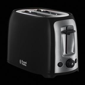 Russell Hobbs 23862 Darwin 2-Slice Toaster, Black/Silver Thumbnail 3