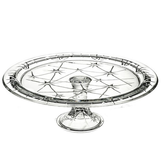 RCR 25311020006 Stella Crystal Footed Cake Stand, Italian Manufactured, 33cm