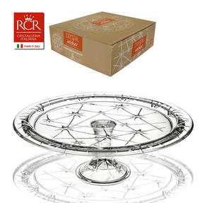 RCR 25311020006 Stella Crystal Footed Cake Stand, Italian Manufactured, 33cm Thumbnail 3