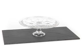 RCR 25311020006 Stella Crystal Footed Cake Stand, Italian Manufactured, 33cm Thumbnail 2