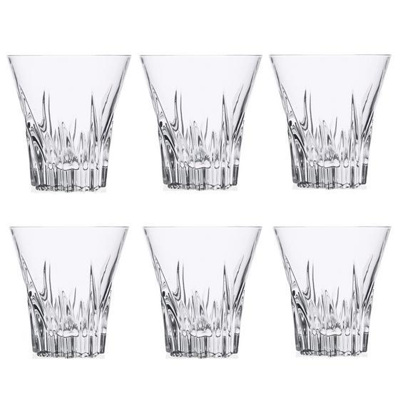 RCR 26275020006 Crystal Fluente Whiskey Glasses, 310ml, 9.7cm, Set of 6