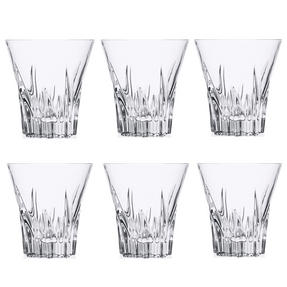 RCR 26275020006 Crystal Fluente Whiskey Glasses, 310ml, 9.7cm, Set of 6