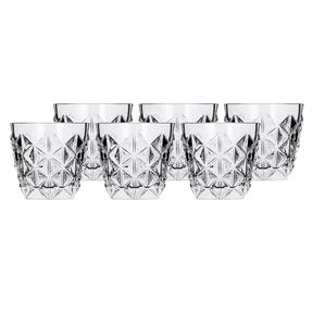 RCR 25752020006 Crystal Enigma Whiskey Glasses, 370ml, 9cm, Set of 6