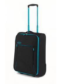 "Constellation Superlite Luggage Set, 18"", 24"" & 28, Black/Turquoise Thumbnail 2"