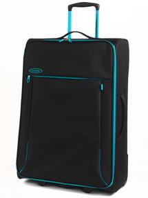 "Constellation Superlite Luggage Set, 18"", 24"" & 28, Black/Turquoise Thumbnail 4"