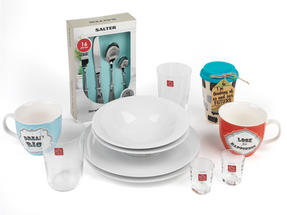 Student Box Dine, University Student 27-Piece Tableware Kitchen Set