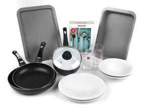 Student Box Kitchen Essentials, University Student 27-Piece Kitchen Set