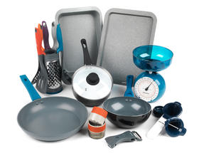 Student Box Pans & Prep, University Student 15-Piece Kitchen Set