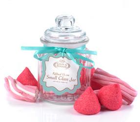 Giles & Posner QCJ186750 Small Ribbed Glass Candy Jar Thumbnail 2