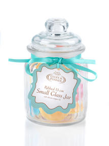 Giles & Posner QCJ186750 Small Ribbed Glass Candy Jar Thumbnail 5
