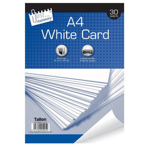Just Stationery 5095 A4 30 Sheet White Card