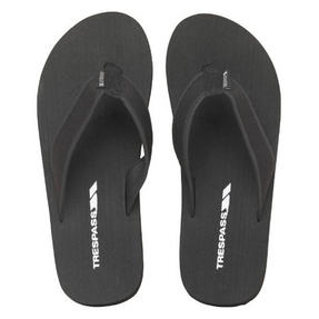 Trespass 716020 Indy Flip Flops, Size 6, Black