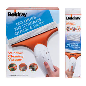 Beldray BEL0224 Cordless Window Vacuum Cleaner with 3-Pack of Replacement Emery Wipes Thumbnail 5