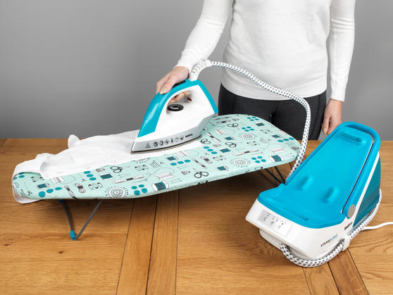 Beldray 2200W Steam Surge Pro Steam Generator Iron Station and Sewing Print Table-Top Ironing Board Set Thumbnail 7
